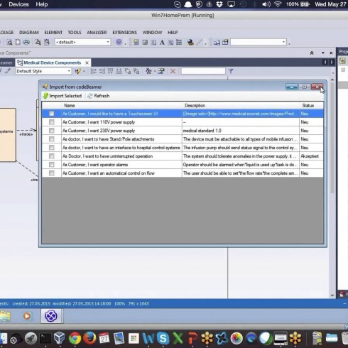 Enterprise Architect UML modeling with codeBeamer ALM
