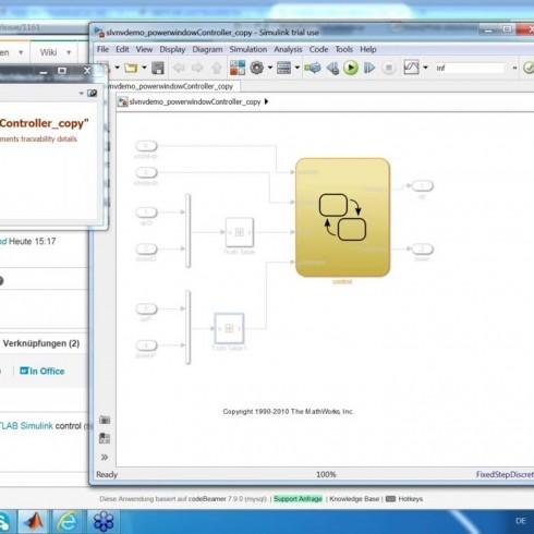 codeBeamer's MATLAB Simulink Integration