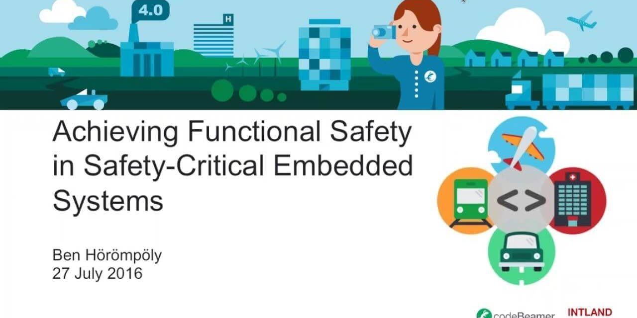 swatch Achieving Functional Safety in Safety-Critical Embedded Systems webinar recording