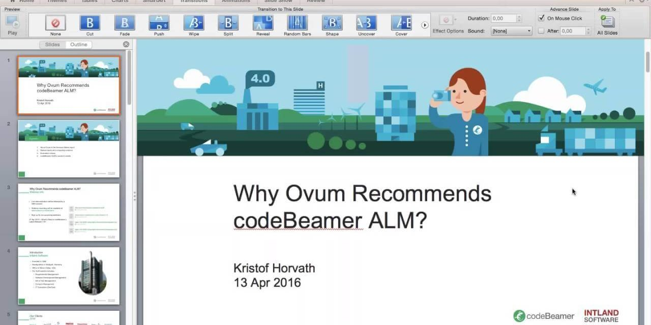 swatch Why Ovum Recommends codeBeamer ALM? webinar recording