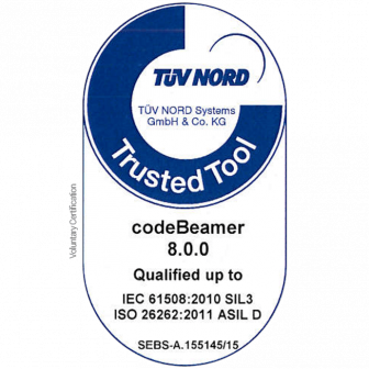 "codebeamer-TÜV-trusted-tool-certification-336x336 codeBeamer Receives TÜV ""Trusted Tool"" Certification for IEC 61508 and Automotive ISO 26262 Compliance ALM"