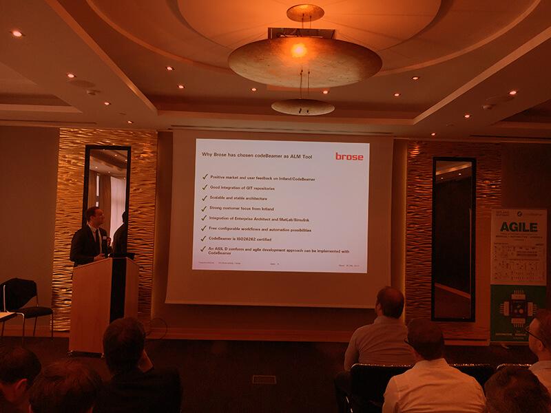 Brose codeBeamer ALM Presentation, Intland Software User Conference 2017