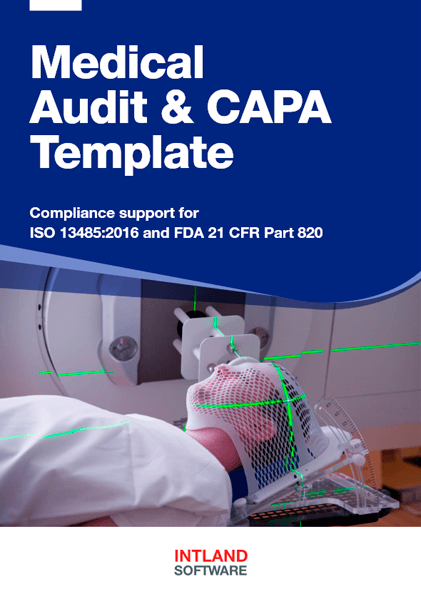 Medical-Audit-CAPA-Template-Intland-Software ALM, QMS, and Risk Management for Medical Device Developers