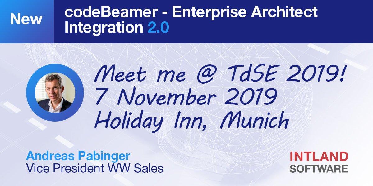 Visit Intland @ TdSE and explore our Enterprise Architect integration 2.0!