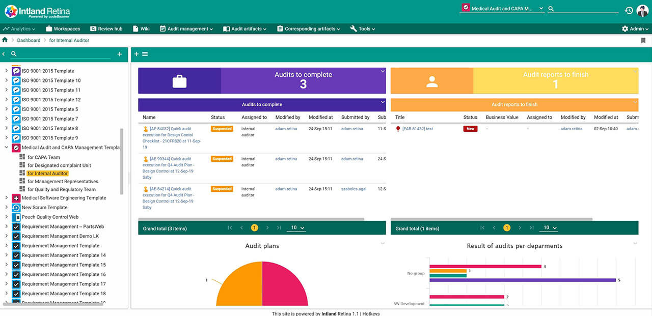Dashboards_v3-optimized ALM, QMS, and Risk Management for Medical Device Developers