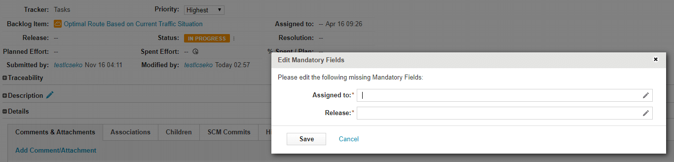 mandatory_editor_dialog What is new in codeBeamer ALM 20.11?