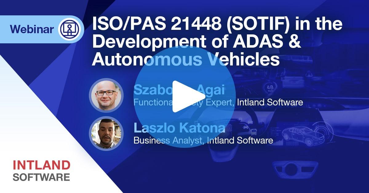 sotif-webinar-recording-thumbnail ISO/PAS 21448 (SOTIF) in the Development of ADAS and Autonomous Vehicles | Webinar recording Webinar recording